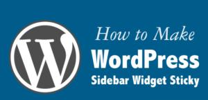 Sticky Sidebar in Genesis | Fixed Right Sidebar in Wordpress