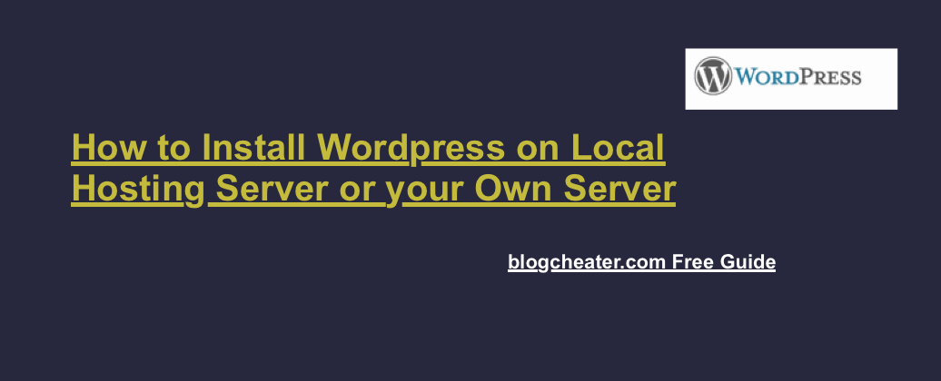 Install Wordpress on Local Hosting | Non Branded