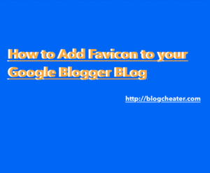 how to add favicon to your blogger blog