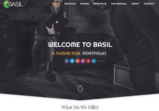 Basil Portfolio Blogger Template, Blogger Templates 2018