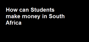 Students make money in South Africa