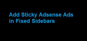 Sticky Sidebar Adsense