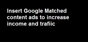 add adsense matched content ad in blogger
