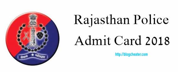 Rajasthan Police admit card 2018 download pdf