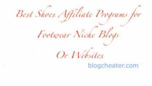 3 Best Shoes Affiliate Programs for Footwear Niche Blogs