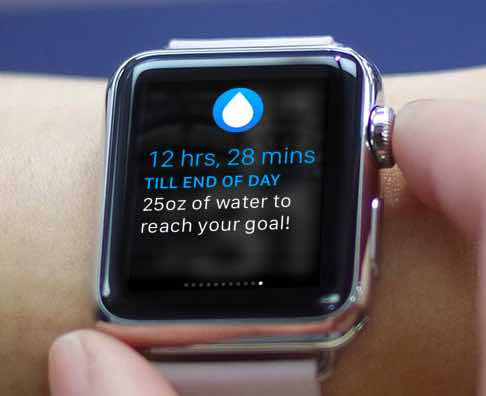 how to lose weight with apple watch- water monitoring reminder