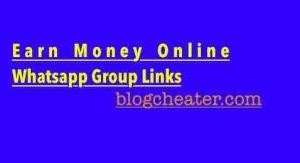 Earn Money Online Whatsapp Group Links