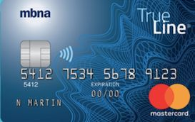 mbna trueline mastercard credit card