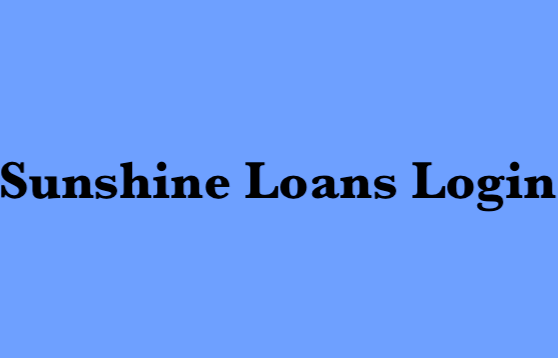 Sunshine Loans Login